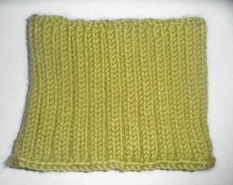 Chartreuse Rib-Knit Cowl