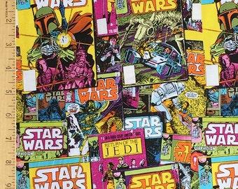 Star Wars Fabric, Star Wars Comic Strip Fabric, Star Wars Return of the Jedi Fabric, 100% Cotton Fabric by Carmelot Fabrics