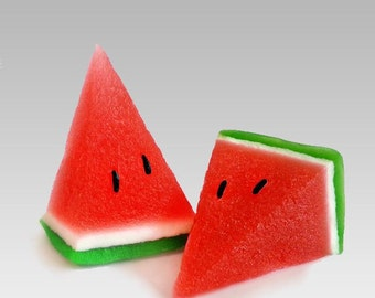Water-melon 3d Mold Watermelon 3d Silicone Mold Fruit Molds A Piece Watermelon 3d silicone forms for soap and candle 3d molds
