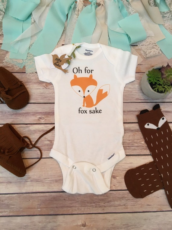 Oh For Fox Sake Baby esie Boho Baby Clothes by BittyandBoho