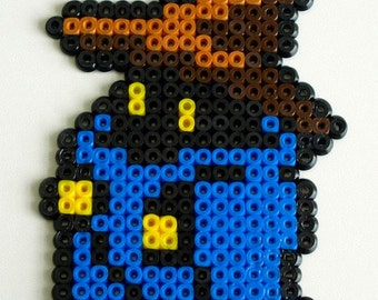 Black Mage Final Fantasy made with Hama Beads