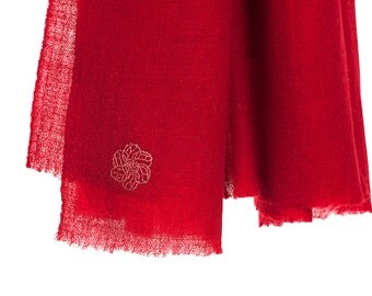 100% cashmere scarf - red (SHKD6)