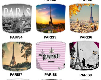 Paris France City Lamp shades, To Fit Either a Table Lamp base or a Ceiling Light Fitting.