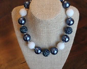 Navy Pearl Bubblegum Necklace