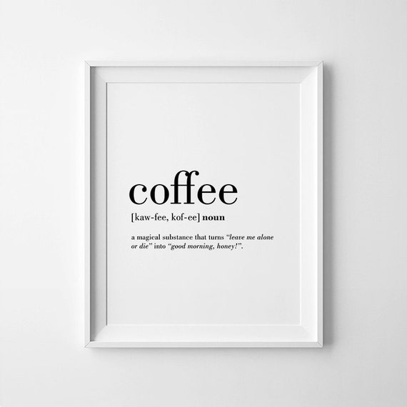 Free Printable Coffee Quotes: Coffee Printable Coffee Quotes Coffee Lovers Gift Coffee