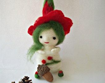felt waldorf toy, fairy, eco toy, decor