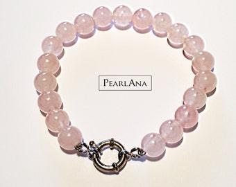 AAA Rose quartz bracelet, natural rose quartz bracelet, pink quartz bracelet, natural pink quartz bracelet