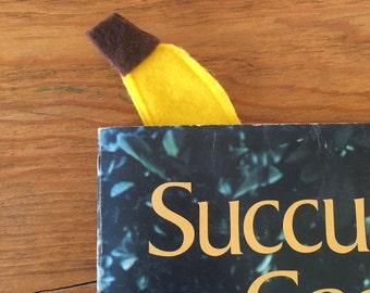 Yellow Felt Banana Book Mark