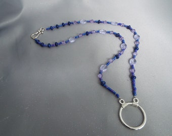 Shades of Blue Eyeglass Necklace