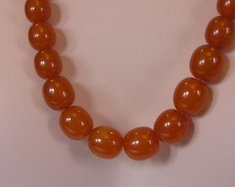 Huge Art Deco Russian Amber Necklace - 93g!!