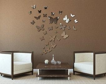 Butterflies Mirror SET