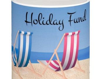 Holiday Saving Fund, Fun Ceramic Money Box / Piggy Bank