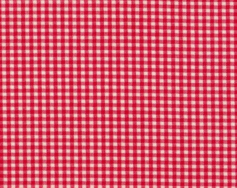 "90"" Round Tablecloth, Cherry Red Gingham Check"