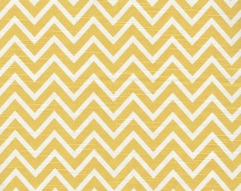 Empress Swag Valance, Cosmo Chevron Corn Yellow, Lined