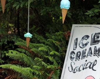 Hanging Ice Cream Cones