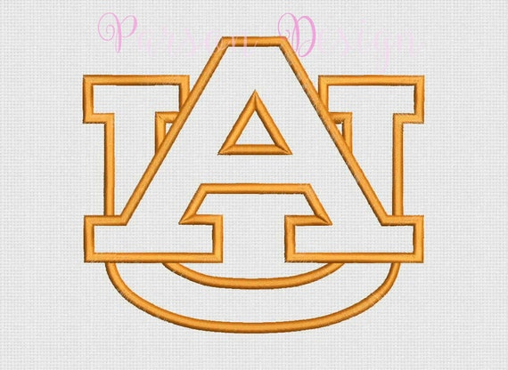 Auburn tigers size appliqu� design embroidery by