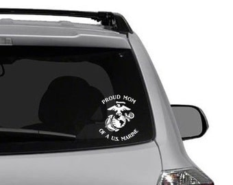 US MARINE DECAL - mom, dad, sister, brother, grandparent, etc.