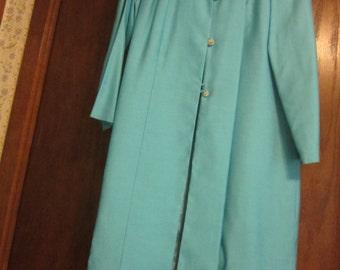 Vintage Elegant Coat and Dress Ensemble 1972
