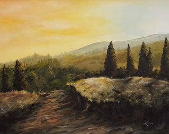 Tuscan Path Original Painting