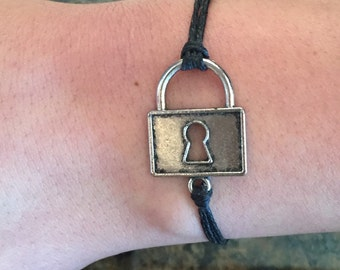 Square lock wishing bracelet