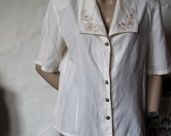Women's size 16 white blouse Made in Australia