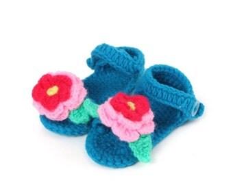 New Handmade Crochet baby/toddler sandles