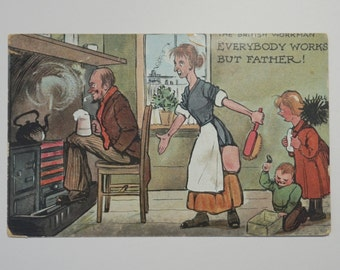 The British Workman Humorous Edwardian Postcard