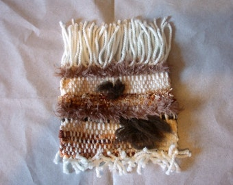 "Decorative weaving wool ""Glossy brown"""