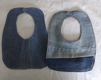 Upcycled Denim Sci Fi Bib