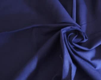 """Over 1 Yd Navy Blue Royal Broadcloth Cotton Quilting Fabirc 53"""" X 35"""""""