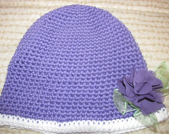Young Ladies Purple spring hat