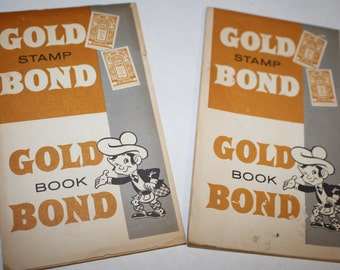 Gold Bond Stamp Books