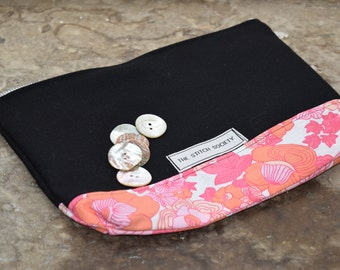 Black and Floral Project Bag