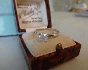 14CT White Gold 0.66 Diamond Solitaire Engagement Ring Size M1/2