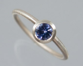 1 stacking ring ring 925 Silver Blue tanzanite can be combined