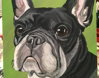 Custom acrylic pet portrait - 16x20
