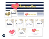 Navy and Gold Etsy branding package - New Etsy banner size - Social media styled stock picture - Layered Psd file templates for business