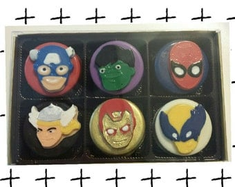 Avengers Chocolate Covered Oreos