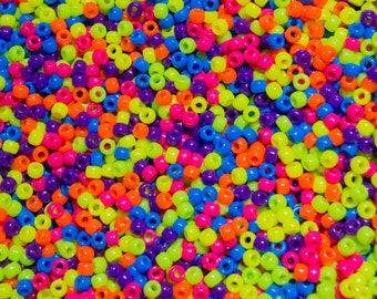 Pony Beads Neon Mix - 2000 Beads