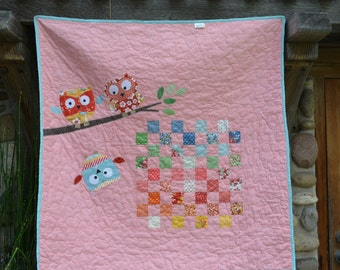 Baby Quilt/ Owl love you forever