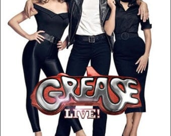 Grease Live Giclee Print Movie Poster FREE SHIPPING