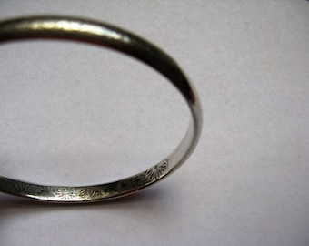 Bangle- Sweet William in 925 sterling silver