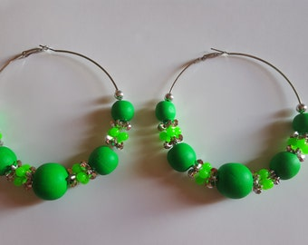 Chunky Green Hoops