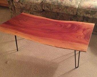 Live Edge Cuban Mahogany Coffee Table/Bench.