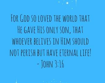 John 3:16 Print Art
