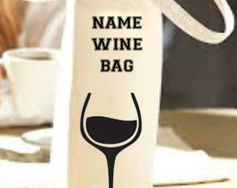 Wine Bag Personalised Printed Cotton Tote Bags