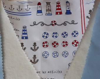 Nautical (Light Blue/Red)