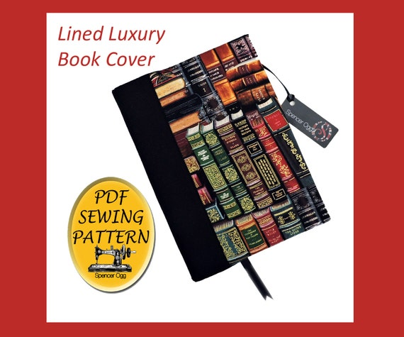 Sewing Book Cover : Luxury a book cover sewing pattern with free