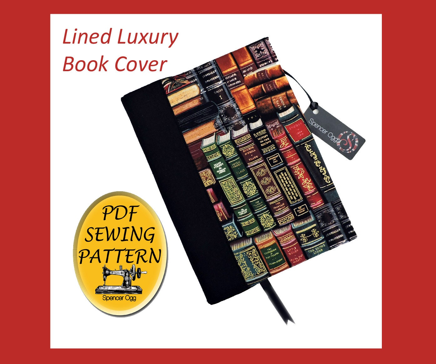 Book Cover Sewing Pattern ~ Luxury a book cover sewing pattern with free by