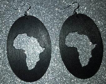 Wood Africa earrings.